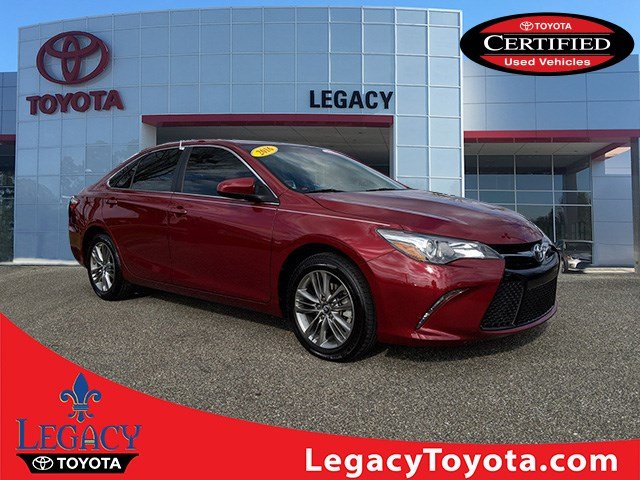 Toyota Certified Pre Owned >> Certified Pre Owned 2016 Toyota Camry Se 4dr Car In Tallahassee